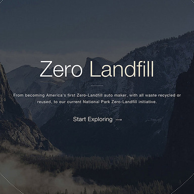 Subaru Environmental Website featuring the National Parks Zero Landfill Initiative