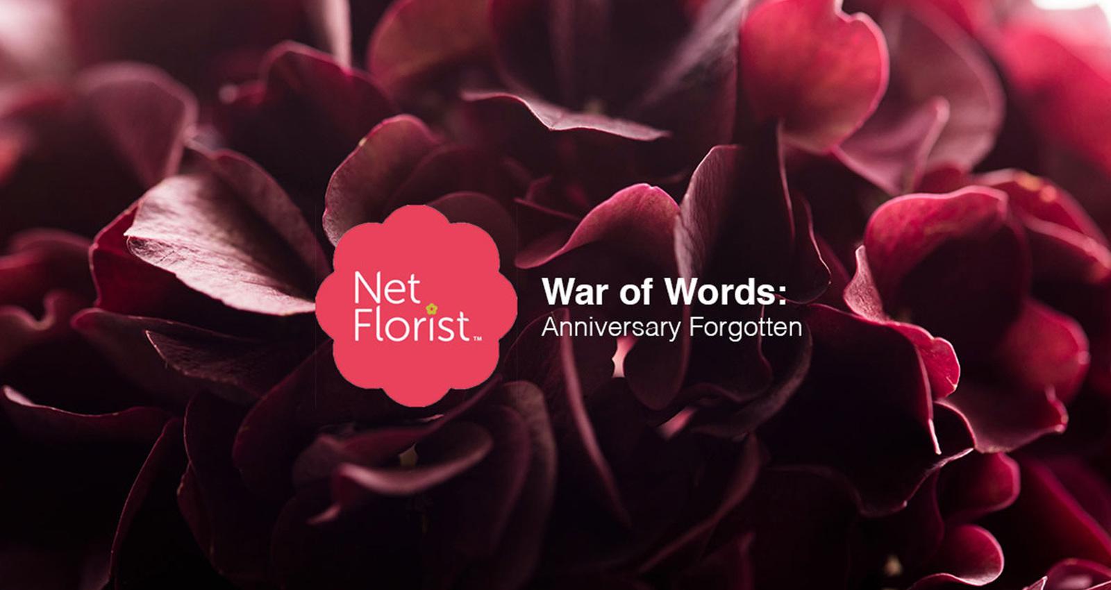 A War of Words - Anniversary Forgotten
