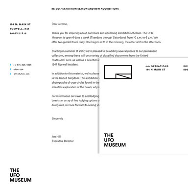 The UFO Museum Identity
