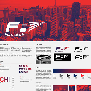 Formula Air Identity for Drone Racing Event