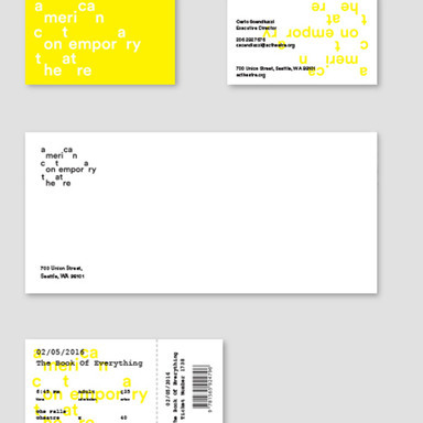 American Contemporary Theatre Identity