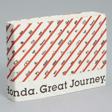 Honda. Great Journey.-Travel sticker scrapbook