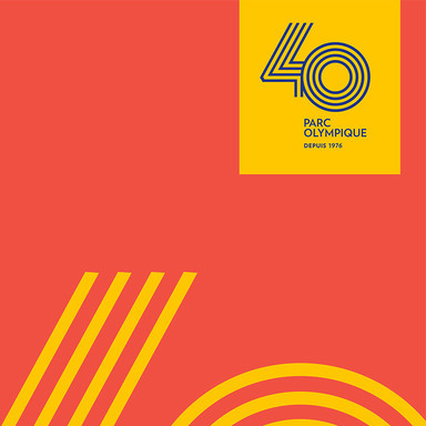 Olympic Park - 40th Anniversary Logo
