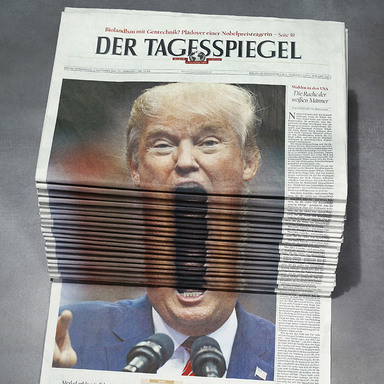 Newspaper Stack - Trump
