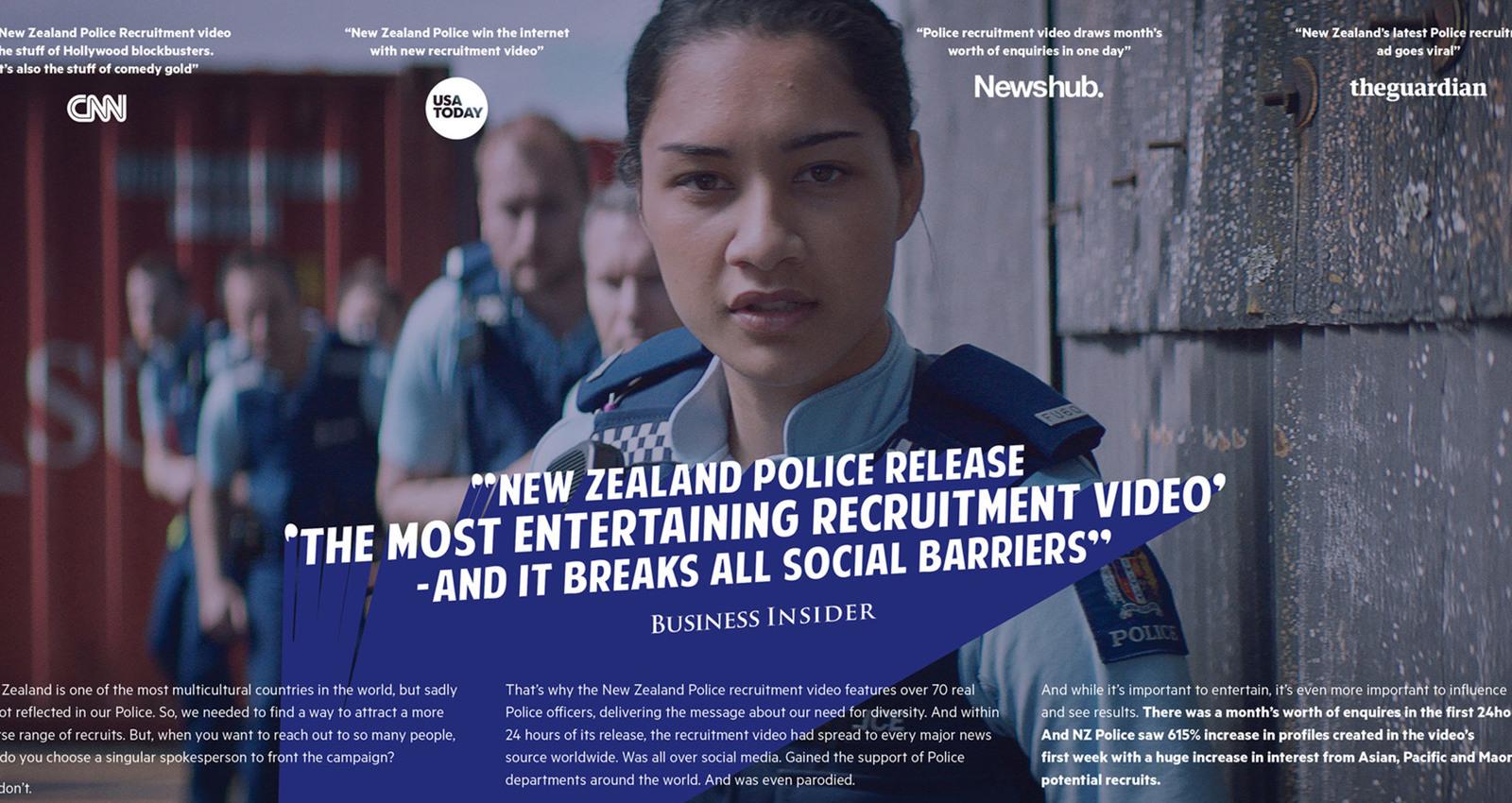 "NZ Police ""most successful recruitment video"""