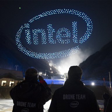Intel Drone Light Show at The Olympics