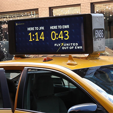 United EWR Real Time Data Taxi Top Campaign