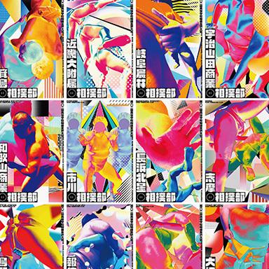 72 Posters for all entrant school sumo teams