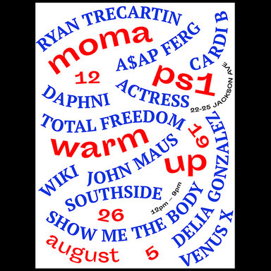 Warm Up 2017 Party posters