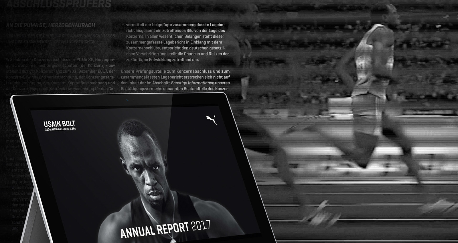 9.58 seconds –the world's fastest annual report