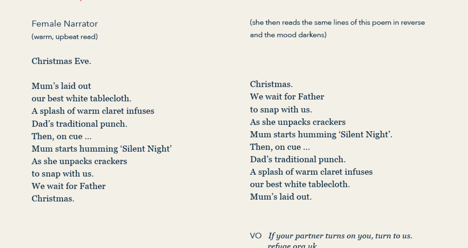 Reversible Poetry