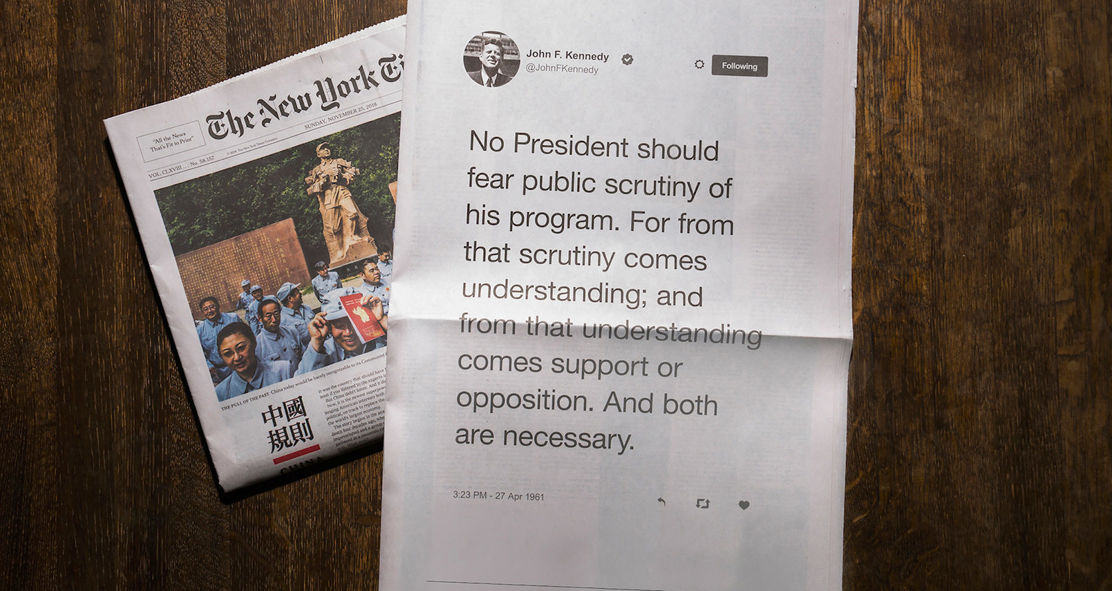 A President Tweets