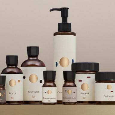 Packages for a haute couture facial esthetic salon
