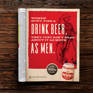 Howdy Beer Print Campaign