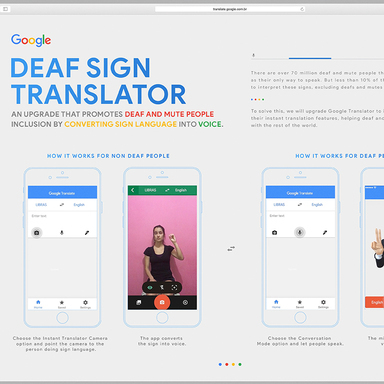 Google Deaf Sign Translator