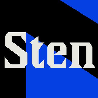 Sten Typeface Design