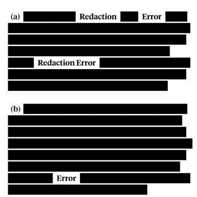 Redaction Failures