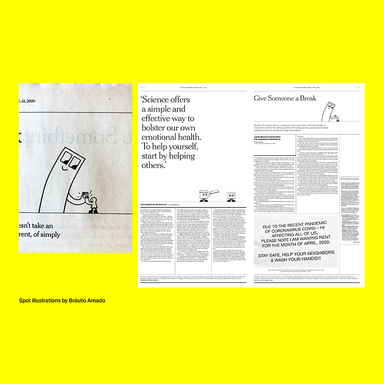 How to help (if you can) — NYT special print section