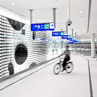 Space-age Airport for Cyclists