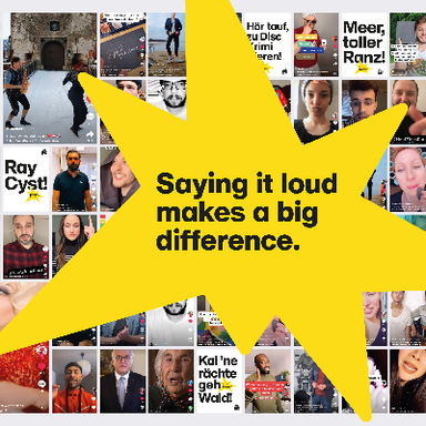 Say it loud. Make a difference.