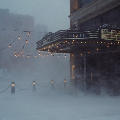 The Roxy Hotel in a Blizzard