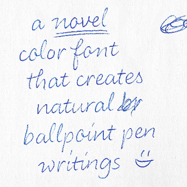 LiebeHeide Bitmap Color Font