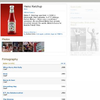 Heinz on Film
