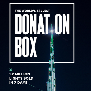 The World's Tallest Donation Box