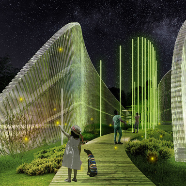 Photosynthesis Protective Shell - Ultraviolet slice symbiosis outdoor space