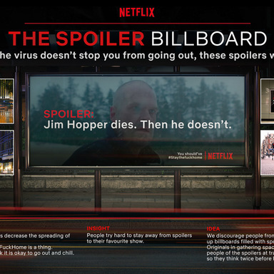 The Spoiler BillboardSocial distancing helps decrease the spreading of COVID-19 drastically. That is why