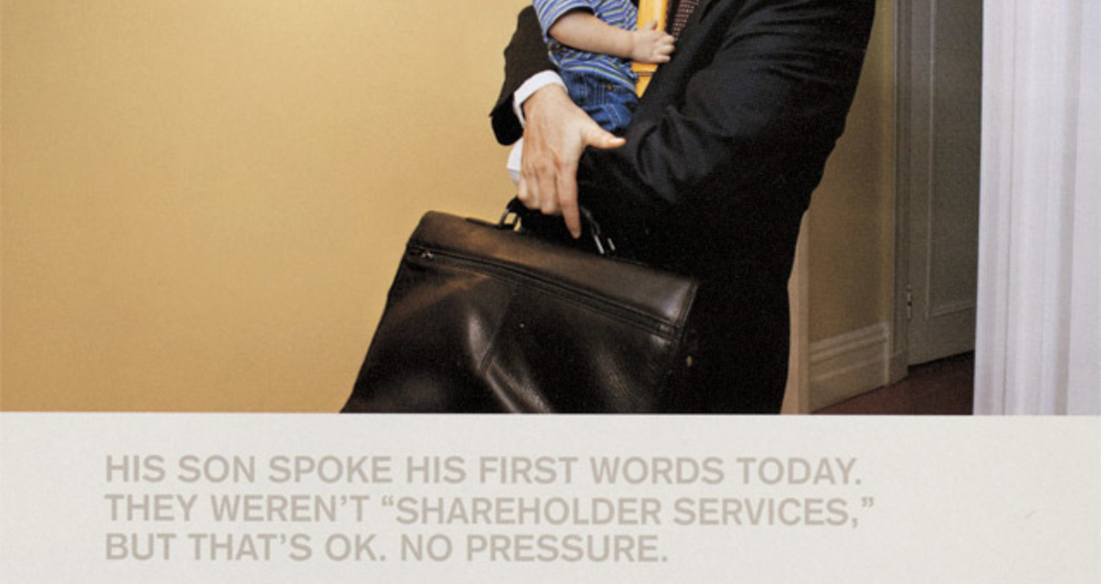 Son Spoke His First Words, Cold Call, Fish Named Escrow, Refreshing Series of Blinks, Discovers It's Saturday