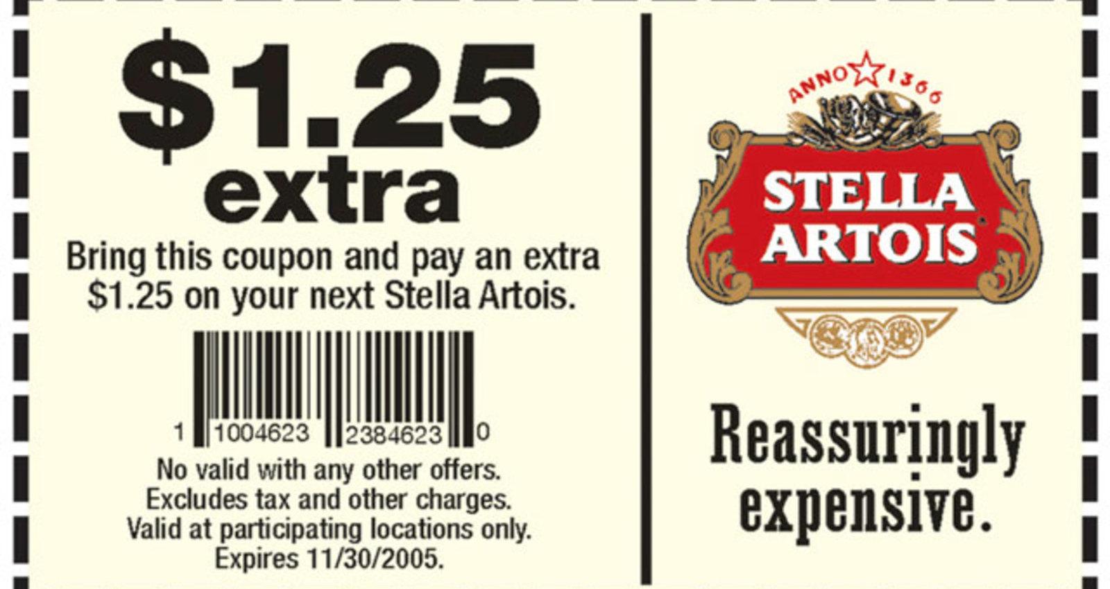 Stella Artois Coupon