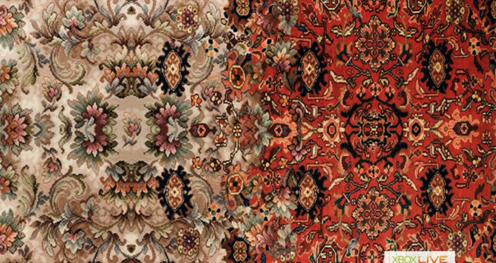 Curtains, Carpet, Wallpaper