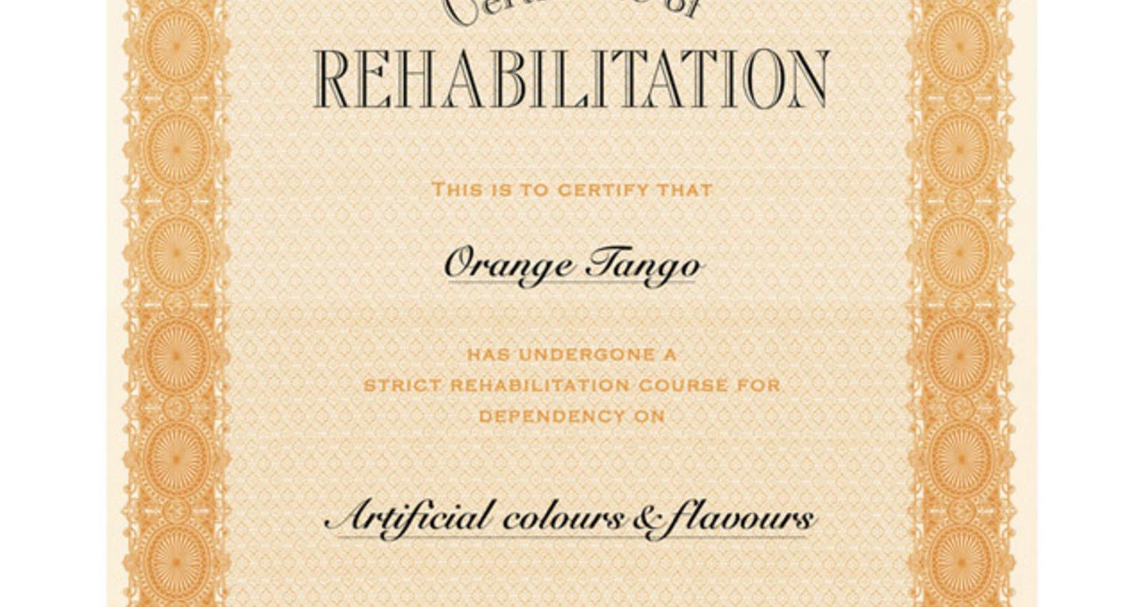 Certificates - Rehab