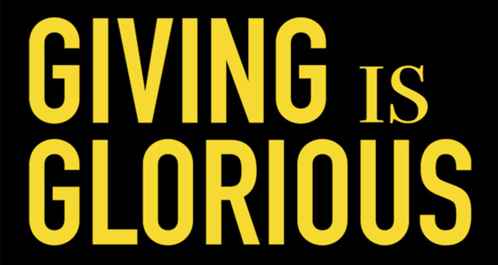 Giving is Glorious