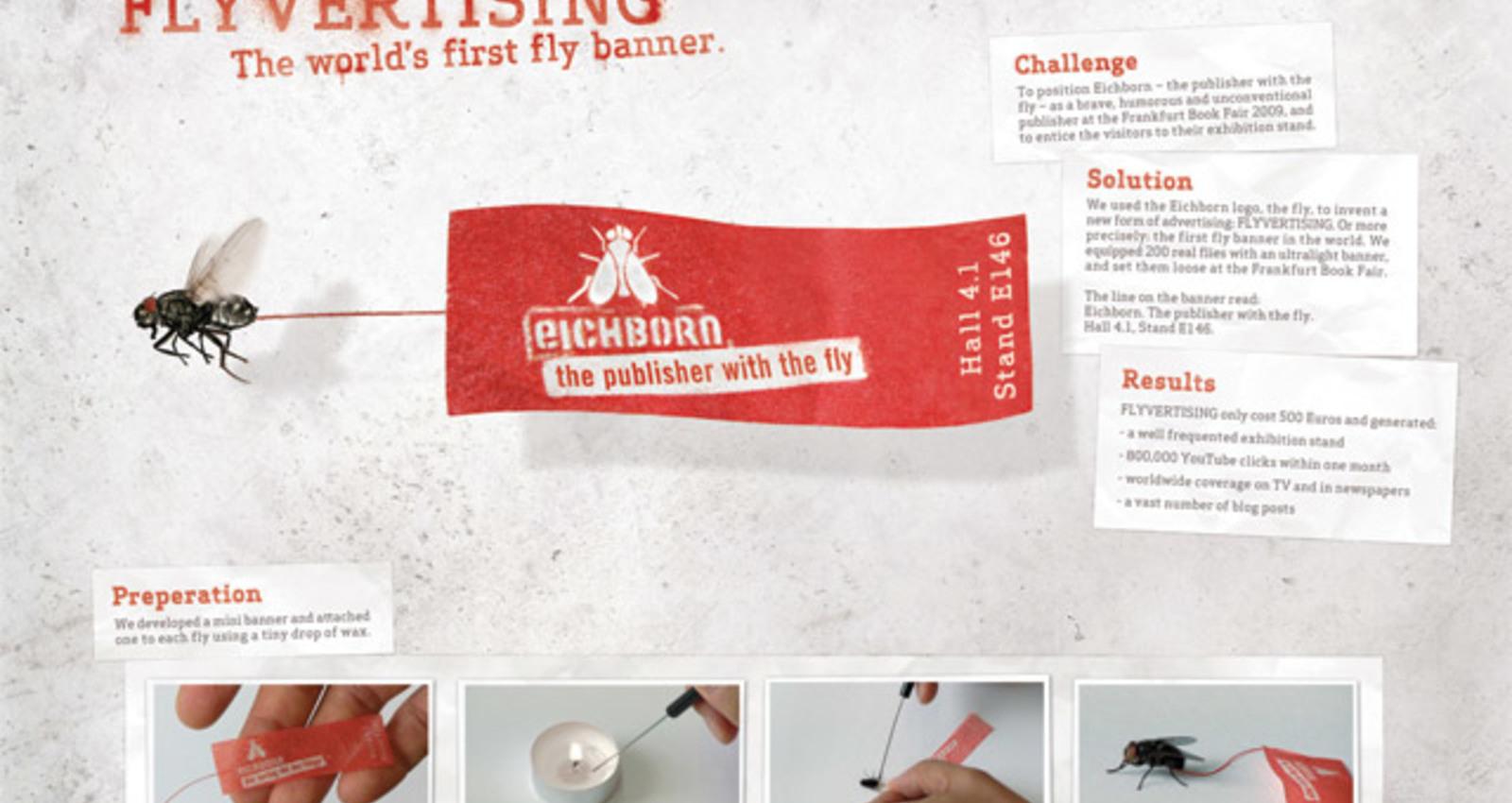 Flyvertising - the world´s first fly banner.
