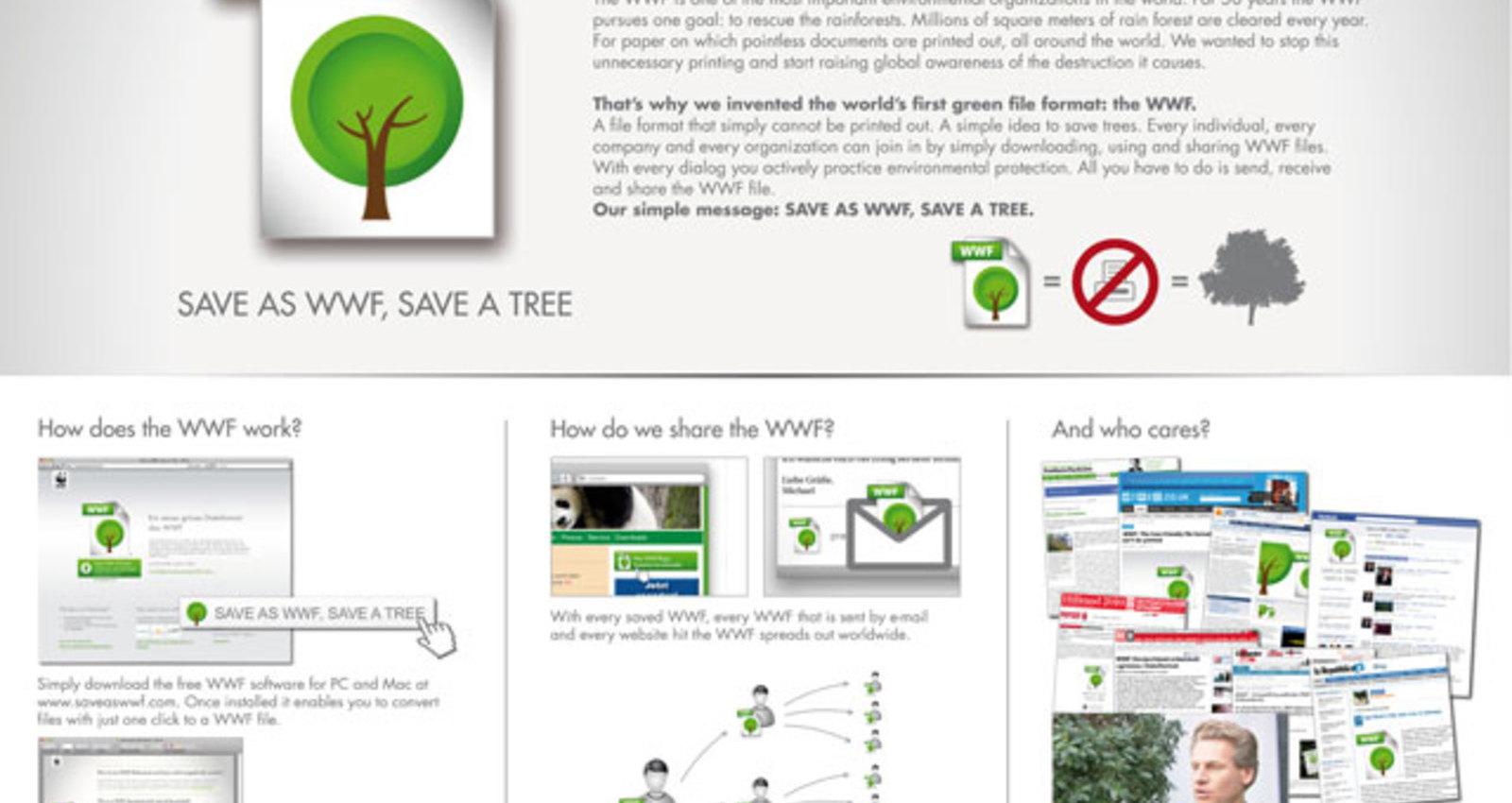 Save as WWF