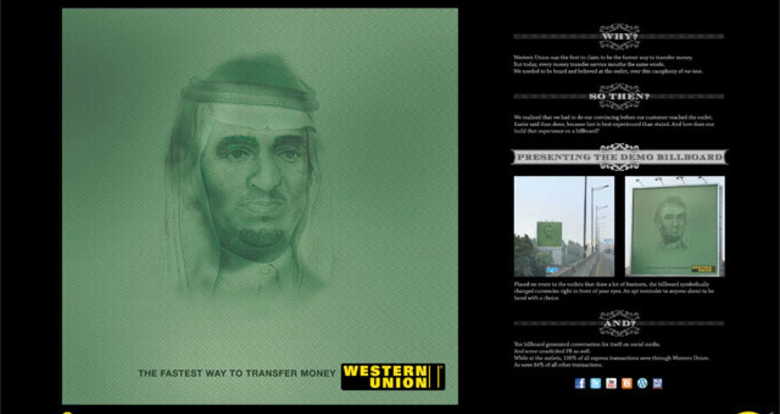 Western Union Demo Billboards