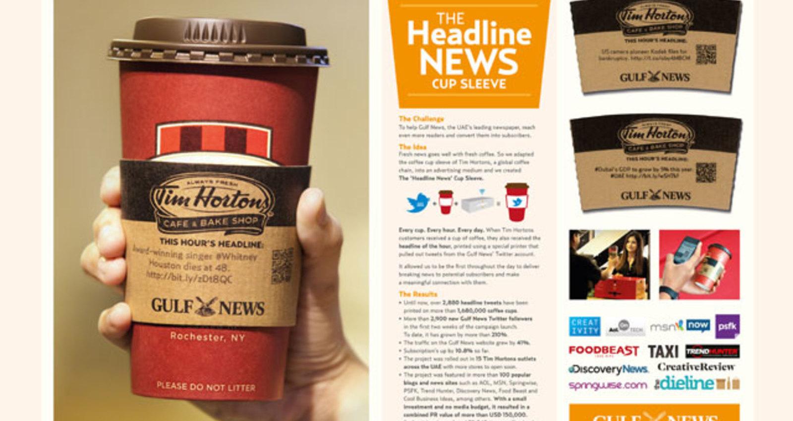 The 'Headline News' Cup Sleeve