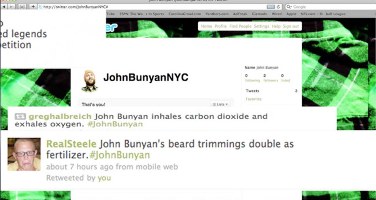 The Legend of John Bunyan and the Reverse Lumberjacks