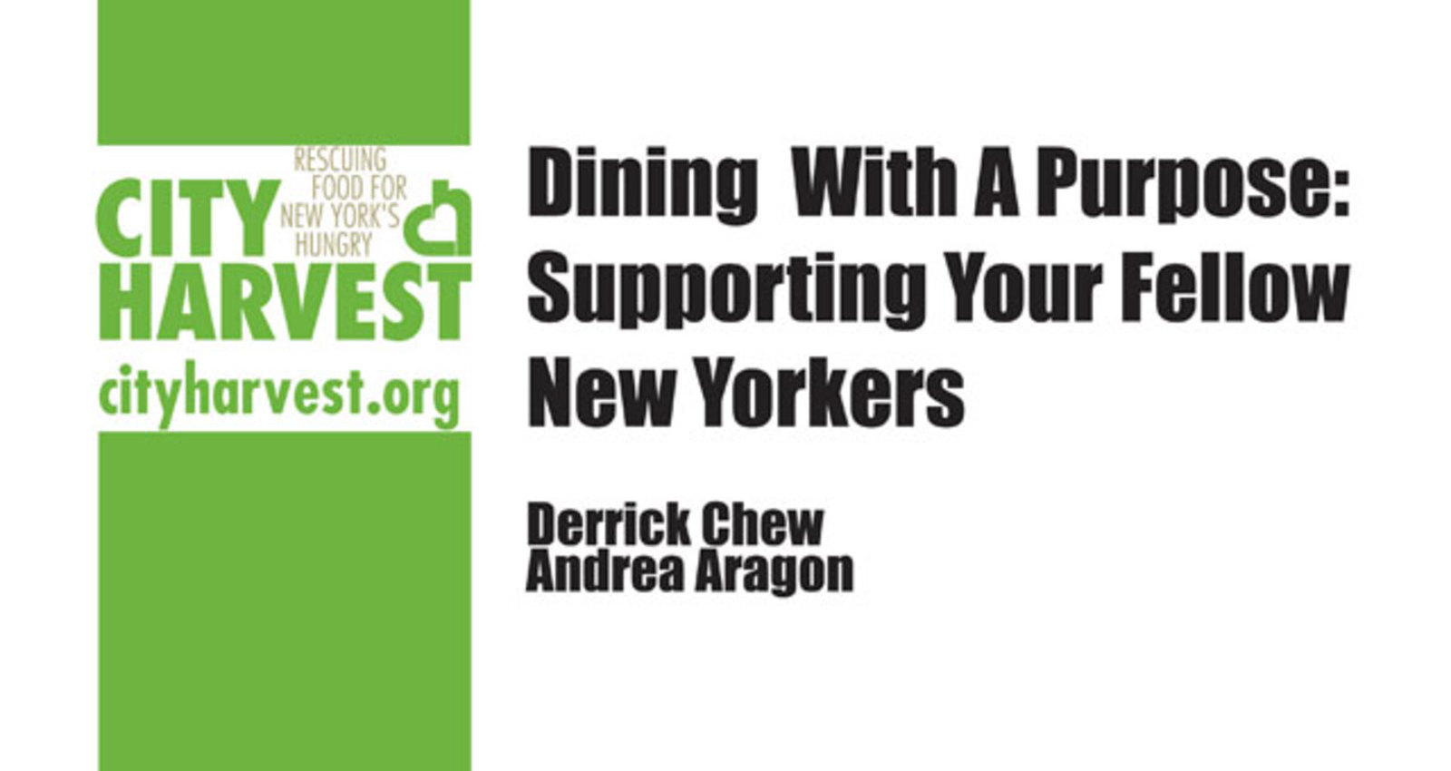 Dining With A Purpose