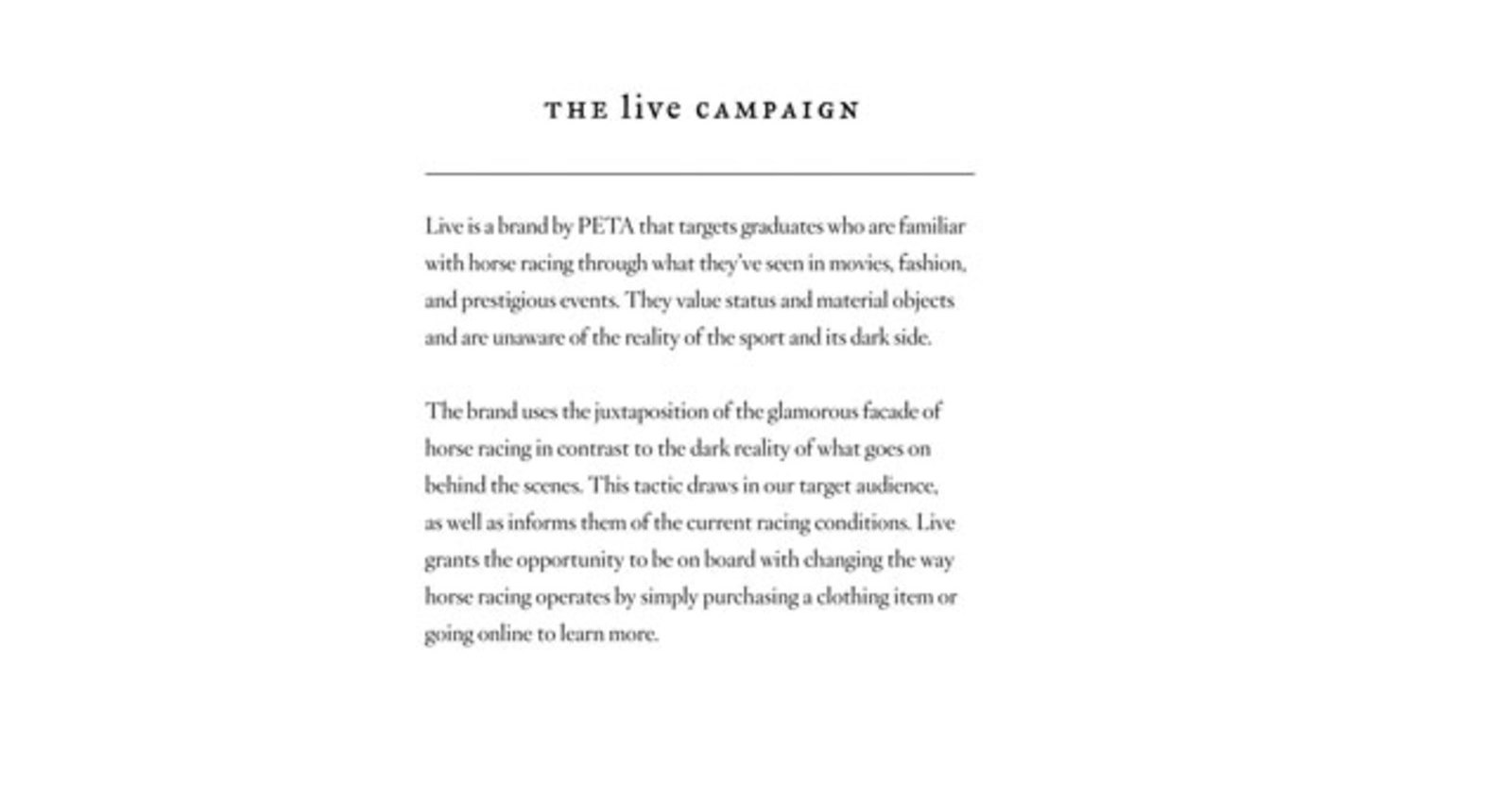 Live Campaign Clothing Line