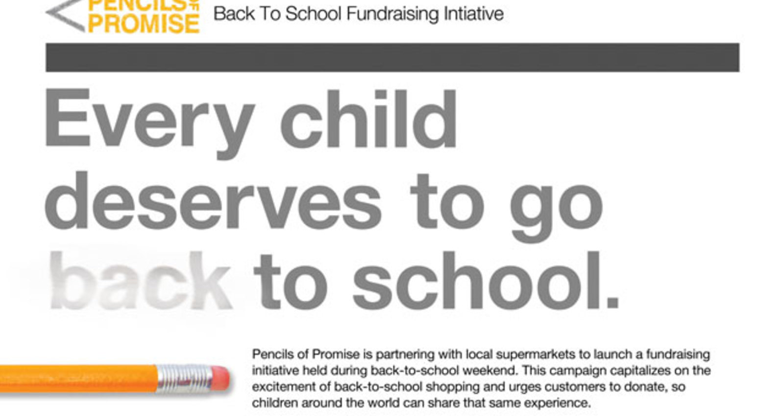 Back-To-School Fundraising Initiative
