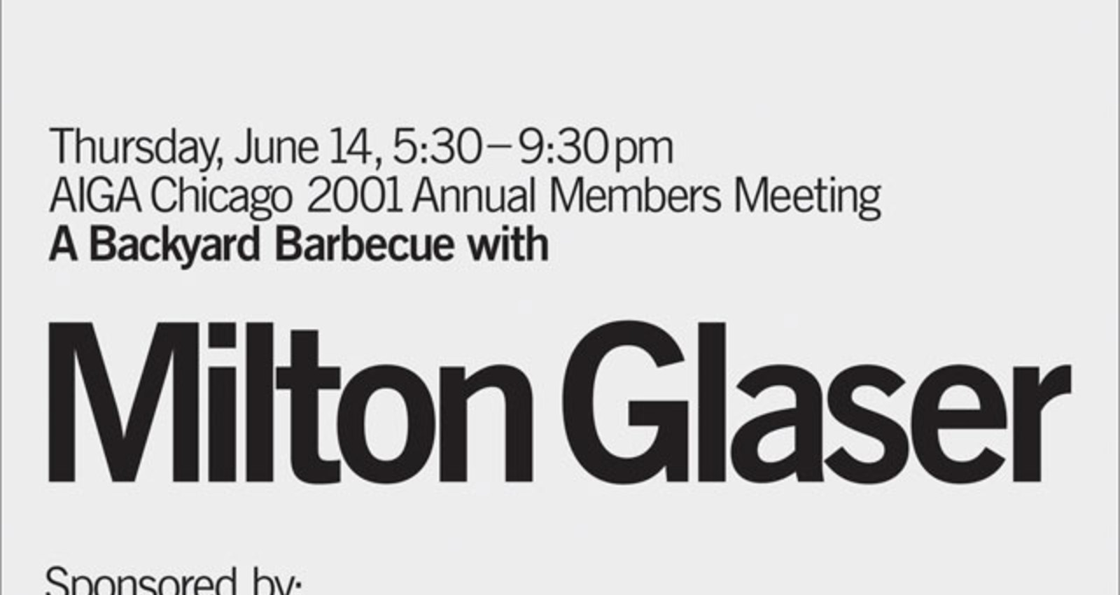 AIGA Chicago Annual Meeting 2001 Poster