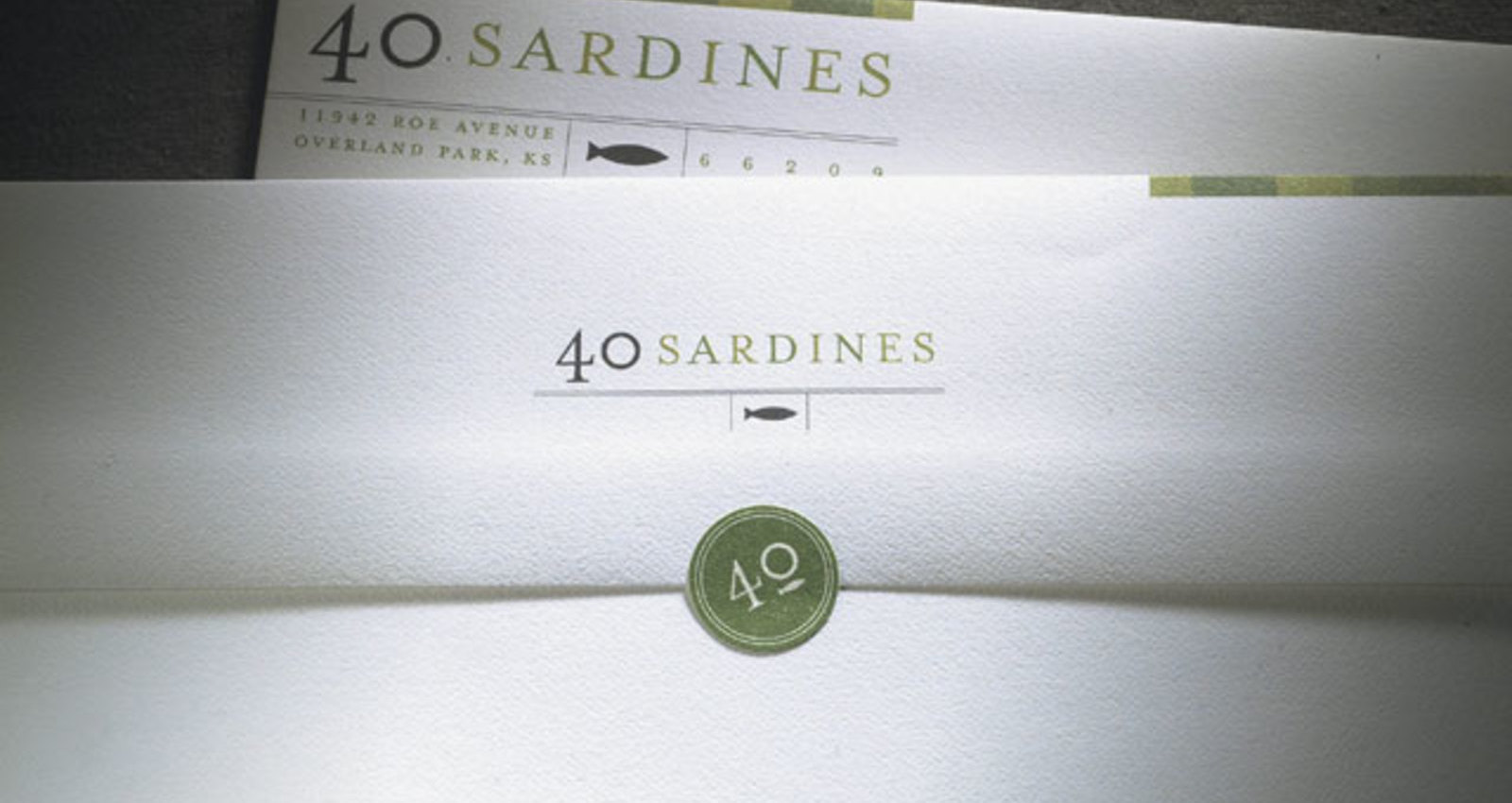 Corporate Identity 40 Sardines Restaurant