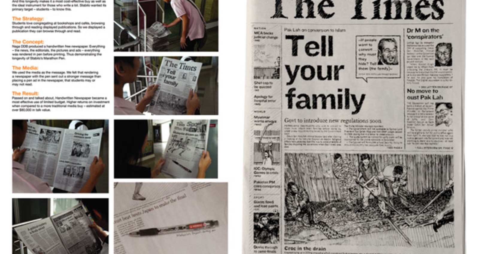 Handwritten Newspaper
