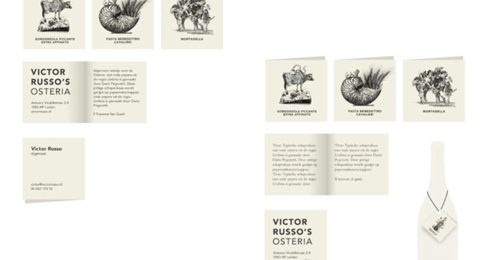 Corporate Identity Victor Russo's Osteria