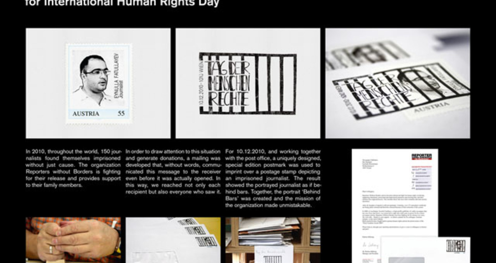 """Special postmark """"human rights"""""""
