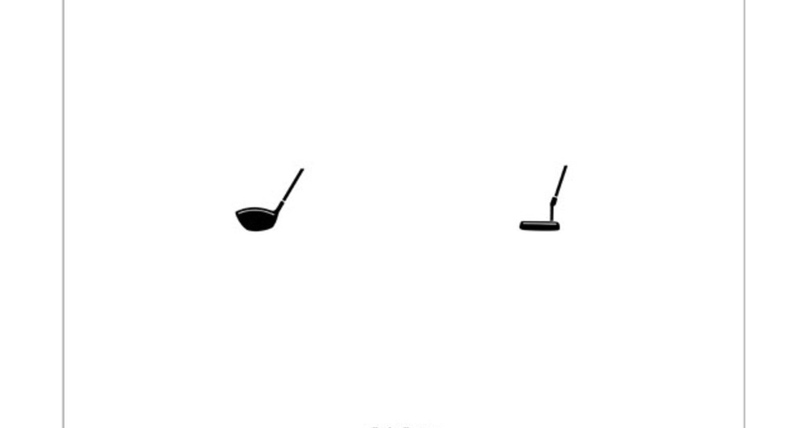 Pictogram series[camera]  [headlight] [golf club]  [bullet]