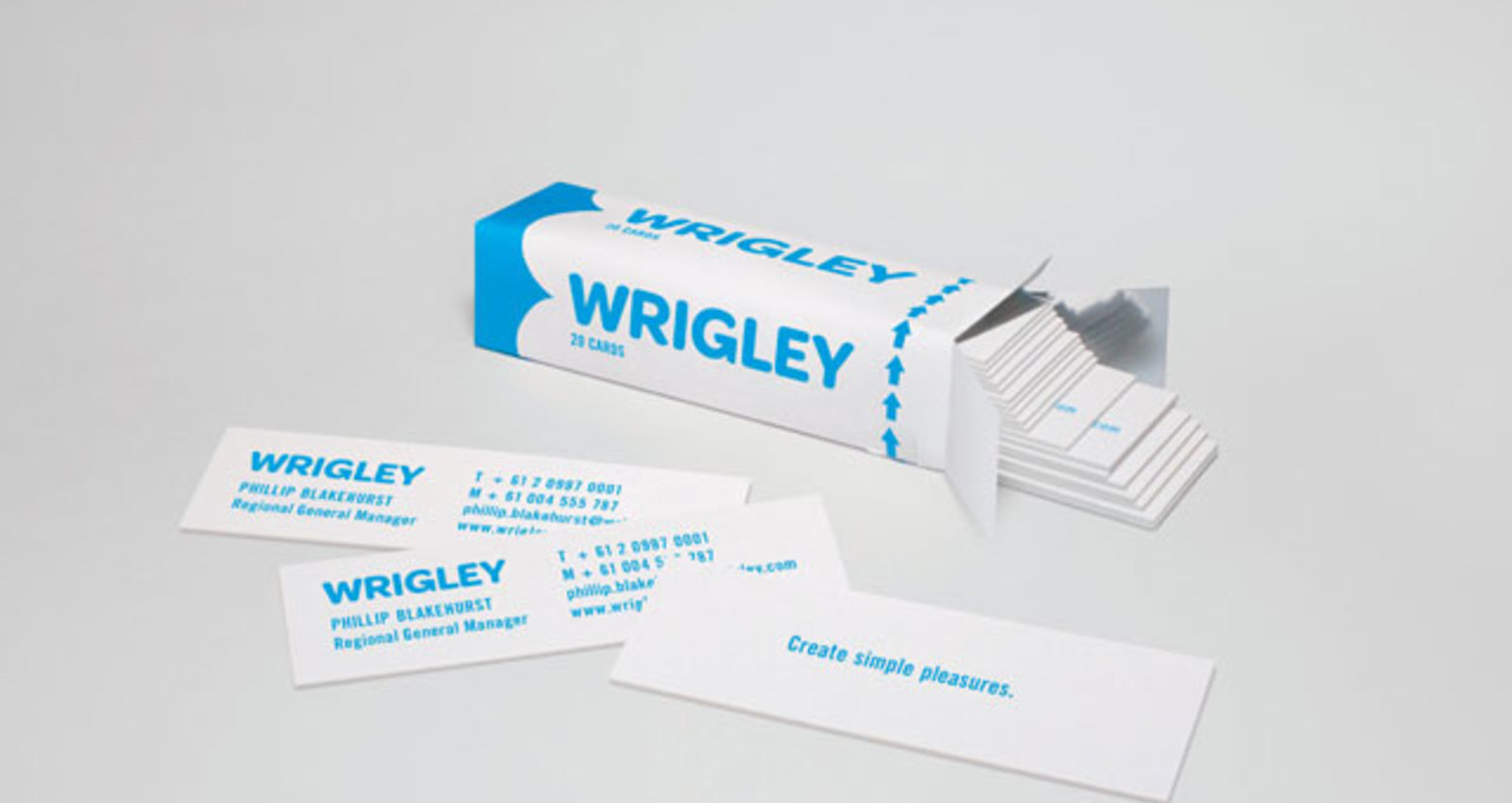 Wrigley Business Cards